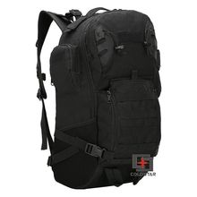 Free Ship Black Color Military Tactics Mountaineering Backpack Wear-resistant 800D Oxford Cloth Hiking Bag Outdoor Sports Bag