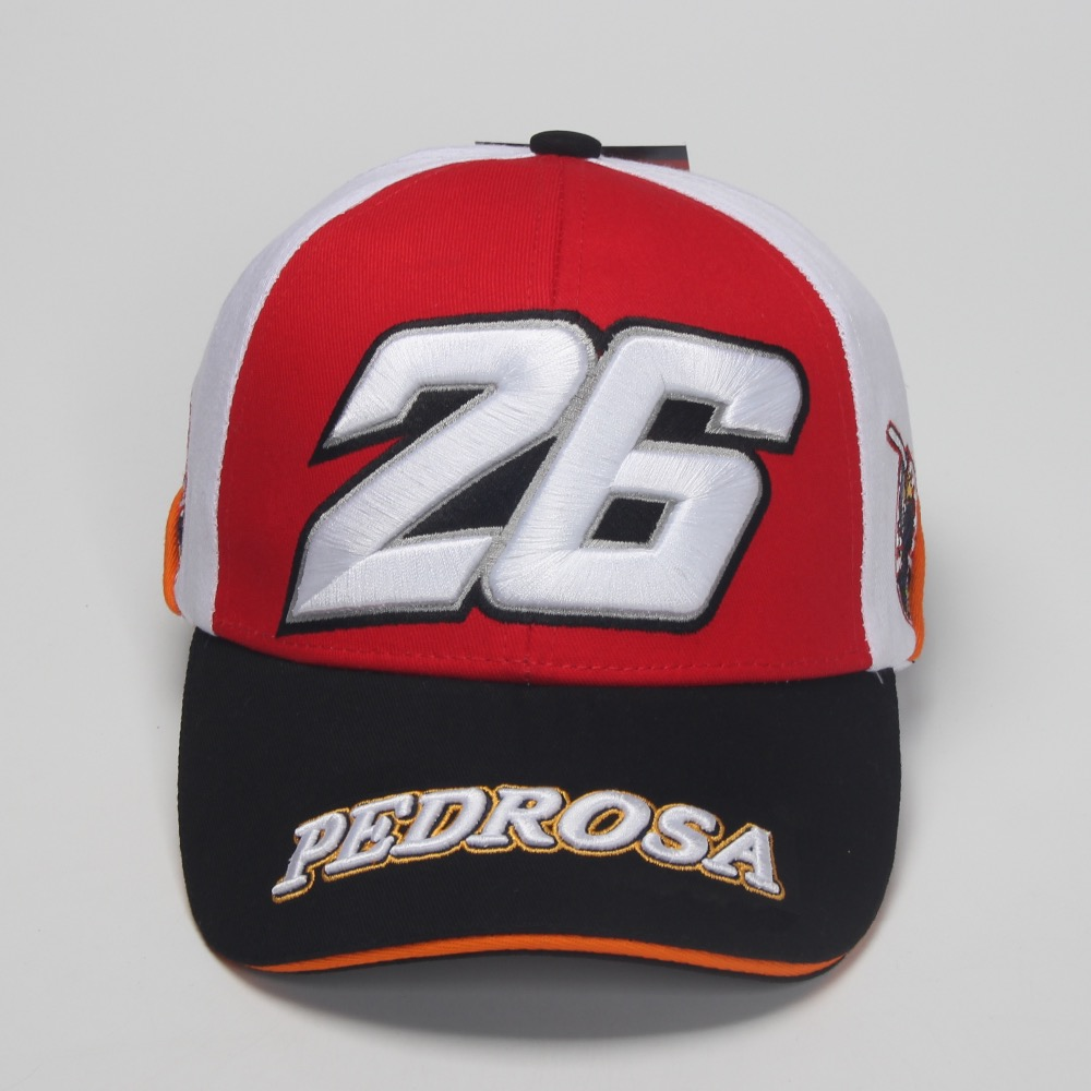 Motorcycle Racing Baseball Cap Pedrosa Dani Design Cotton Bas