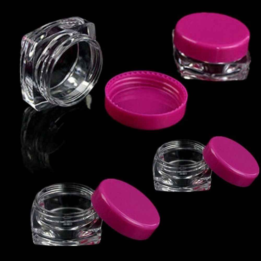 10 Pcs transparent  Sample Container Small Square Bottle Cosmetic Empty Jar Pot Eyeshadow Lip Balm Face Cream Storage Bottle