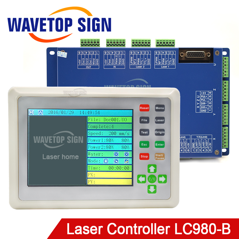 Laser Machine Control Card LC980-B True Color Motion Control Card Whole Set Include Cable Panel and Control Card цена