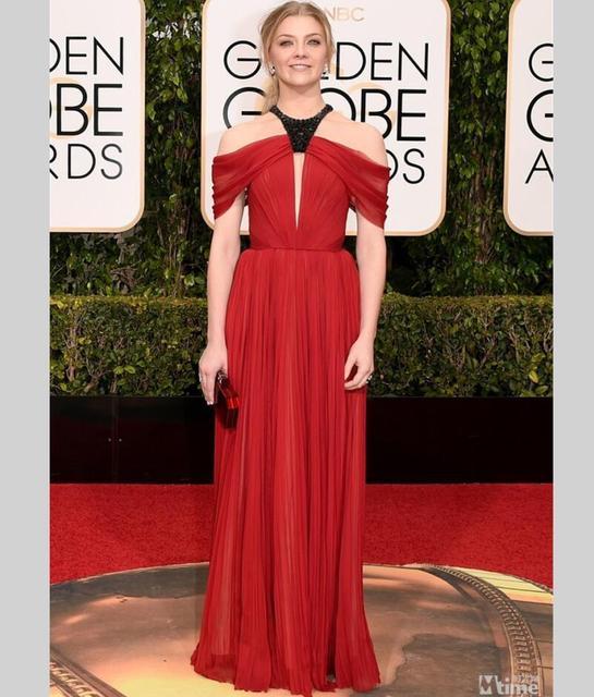 Знаменитости red carpet платья Холтер Черный Вышитый Бисером Длинные Шифон Вечерние Платья 73rd Annual Golden Globe Awards кайли дженнер платье