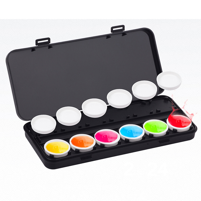 Beauty Girl Nail Art Palette Cosmetic Mixing Palette Set Ring ...
