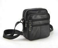Men Genuine Real Leather Small Shoulder Bag Women Cross Body Handbag Classic 5 Zip Messenger Satchel