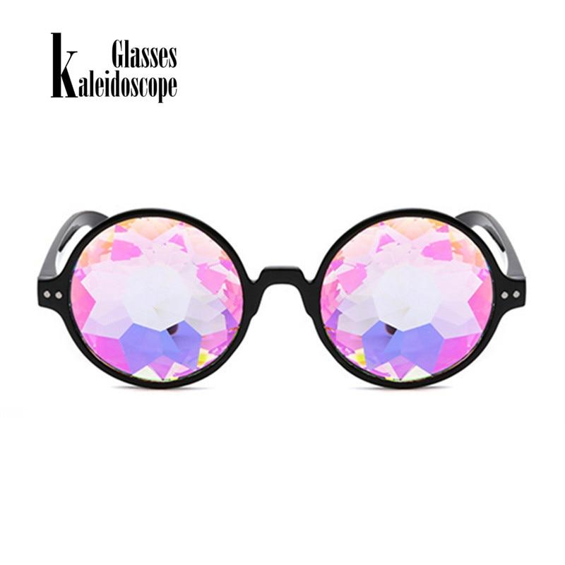 Kaleidoscope Glasses Retro Round Sunglsees Men Women Brand Designer Sunglass Kaleidoscope Glass Catwalk Show Cosplay Eyewears 1