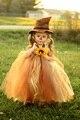 Пугало Хэллоуин Девушки Платье Sun Flower Хэллоуин Детский Костюм для Партии Хэллоуин Балетной Пачки Младенца Платье Осень Пачки PT296
