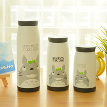 Simple life Stainless steel thermos vacuum cup cartoon cat totoro series thermo mug insulation cup