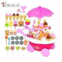 Super Cute Candy Ice Cream Car Flash Light Food Cake Cart Toys Kits Cartoon Food Toy