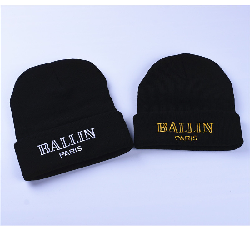 cc1028fc40b Men and Women S Winter Hat Ballin Paris Embroidery Knitted Beanies ...