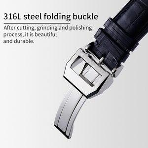 Image 5 - Ремешок для часов HOWK, заменитель IWC, ремешок для часов 20 мм 21 мм 22 мм, кожаный ремешок для часов, ремешок из бамбука аллигатора с пряжкой бабочкой