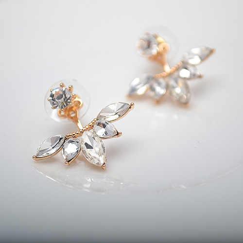 Joyería coreana Zircon perla corazón cristal flor Ángel alas geométricas pendientes para mujeres declaración oreja joyería al por mayor