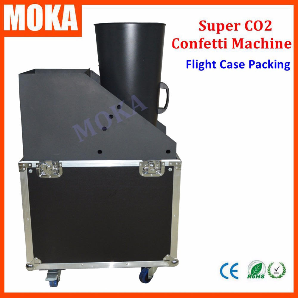 Large Size Co2 Jet Confetti Machine flightcase Co2 Gas confetti cannon machine Shoot 10-15 meter