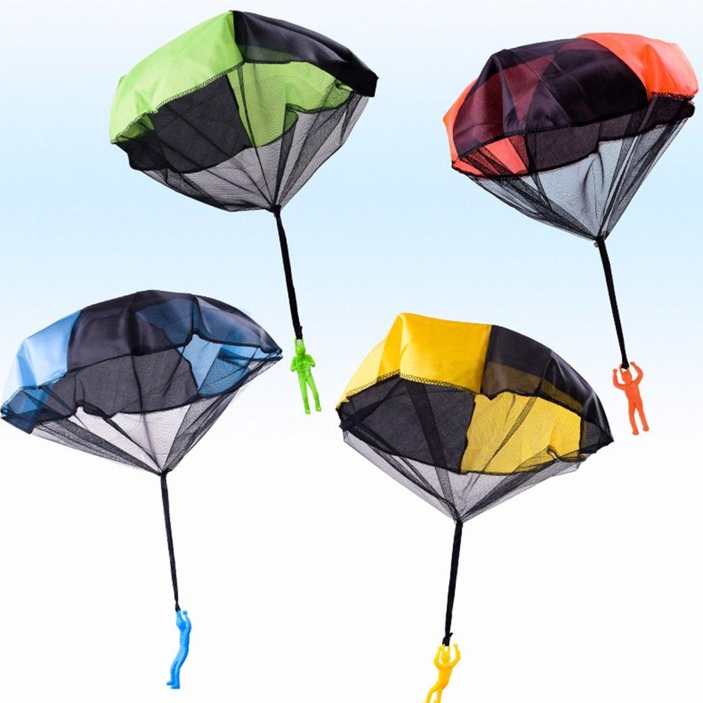 Забавная ручная игрушка с парашютом для детей, развивающая Парашютная игрушка с рисунком солдата, спортивные игры на открытом воздухе, 2019