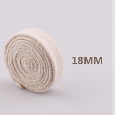 5yd/лот высокопрочный натуральный цвет 3ply круглый плоский канат хлопок шнуры для дома ручной работы аксессуары для одежды проекты рукоделия - Цвет: flat 18mm