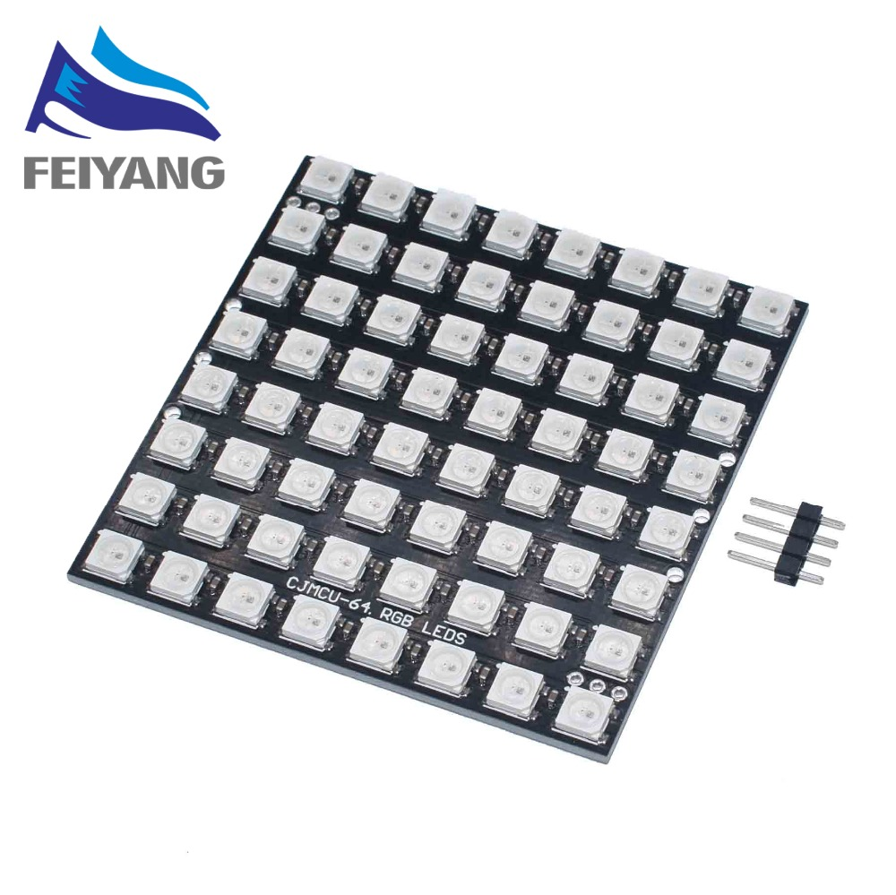 Active Components Tireless Ws2812 Led 5050 Rgb 8x8 Led Matrix Brand New Ws2812b 8*8 64-bit Full Color 5050 Rgb Led Lamp Panel Light Electronic Components & Supplies