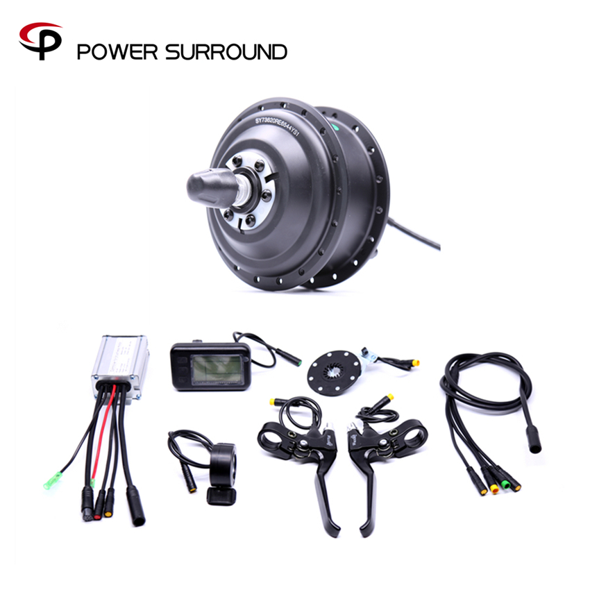 Waterproof Electric 36v350w Front/rear Bike Conversion Kit Brushless Hub Motor wheel bicycle With Ebike System 24v 500w electric mountain bike powerful brushless gearless hub motor 26 rear wheel electric bike conversion kit with lcd meter
