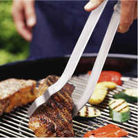 In Acciaio Inox Resistente Al Calore Da Cucina Utensili Da Cucina di Cottura Maniglia Utensile Insalata Servire Pane di Cottura barbecue barbecue Strumenti di Pinze