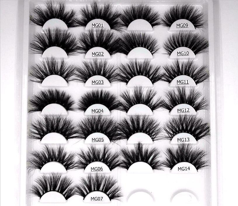 100% Mink Eyelashes False Eyelashes Crisscross Natural Fake Lashes Length 25mm Makeup 3D Mink Lashes Extension Eyelash Beauty