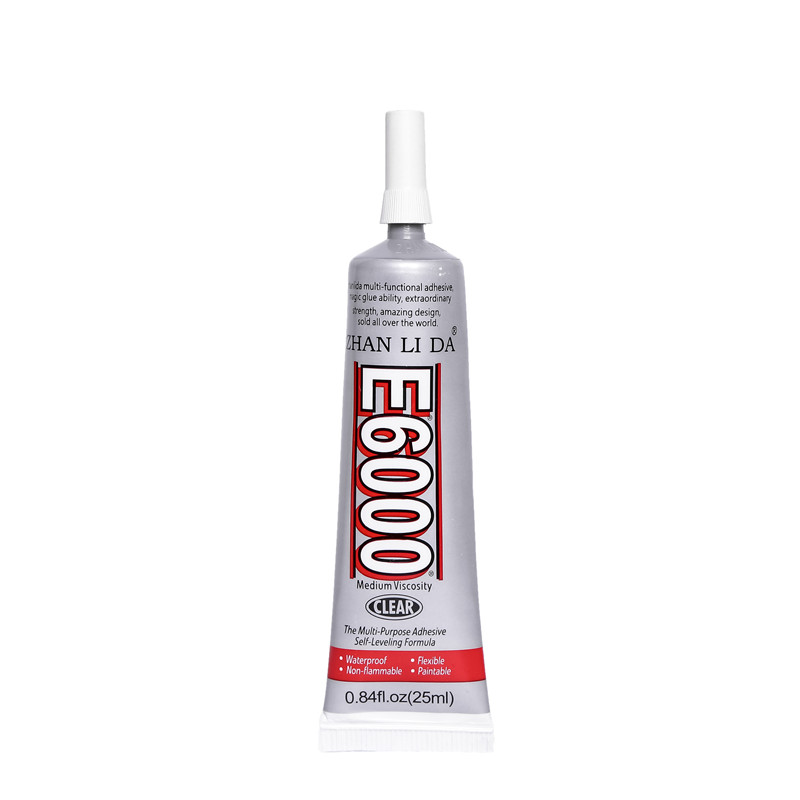 25ML E6000 Glue Epoxy Resin Super Adhesive E-6000 Jewelry Metal Glass Stone Wood Fabric Textile Plastic Craft Rubber Paper Drill