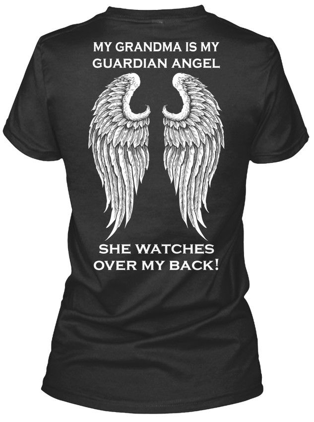 Funny Tees Short Sleeve Grandma Guardian Angel Wings Ends Soon - My Is She Regular Crew Neck Tee Shirt For Men