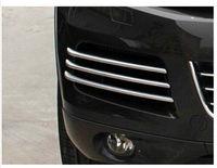 Chrome Mesh grille cover trim near front fog light For VW Touareg 2011 2014