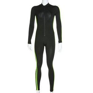 Image 4 - Gxqil長袖スポーツオーバーオールドライフィットためヨガフィットネス衣類2020ワークアウトジム服女性トラックスーツスポーツウェア