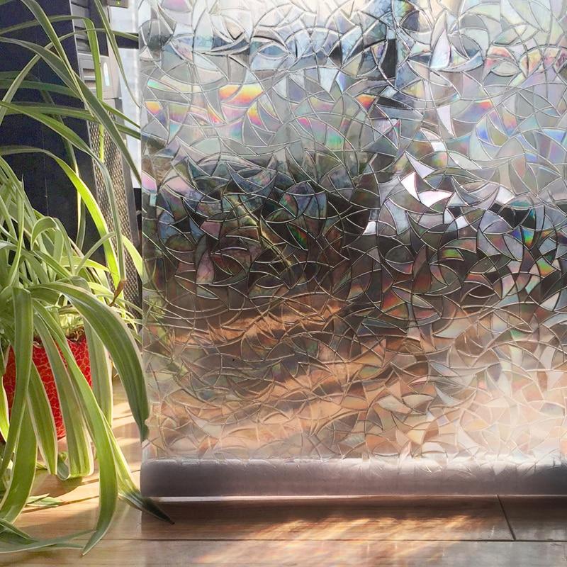 cottoncolors домашнего декора окна фильмы обложка, нет-клей 3д статические декоративные конфиденциальности пвх водонепроницаемый наклейки стекла 45x200 см