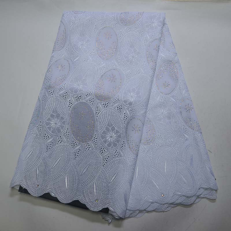 White African Cotton Swiss Voile Lace Fabric 2018 High Quality Stones Swiss Voile Lace In Switzerland