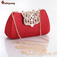 New Women Beautiful Clutch Fashion Diamond Crown Evening Bag Wedding Banquet Party Handbag Mini Purse Chain Shoulder Bag