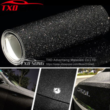 Black Frost Glitter เพชรไวนิลฟิล์ม Matt Glitter สติกเกอร์สติกเกอร์รถฟรีจัดส่งฟรีขนาด: 10/20/30/40/50/60x152 ซม./Lot