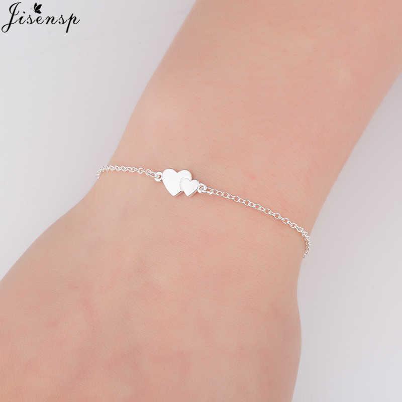 Jisensp Романтический Браслеты для девочек сердце любовь кулон Браслеты ножной браслет Модные украшения Для женщин сердце манжеты Браслеты браслеты