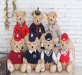 2015 1pcs 25cm Coast guard bear stewardess bear Toys Teddy Bear Dolls  Plush Toys kawaii Gifts For Children Girls Free Shipping