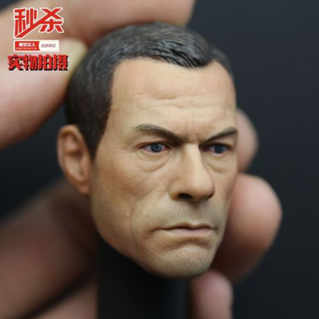 "Jean-claude Van Damme 1/6 Scale Male Head Sculpts Model Toys Man Movie Star Head Craving Model For   12"" Action Figure Gifts"