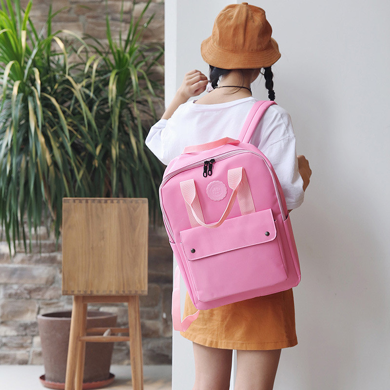 High Quality Fashion Waterproof Women Backpack For School Teenagers Girls Stylish School Bag Ladies Canvas Backpack Female #5