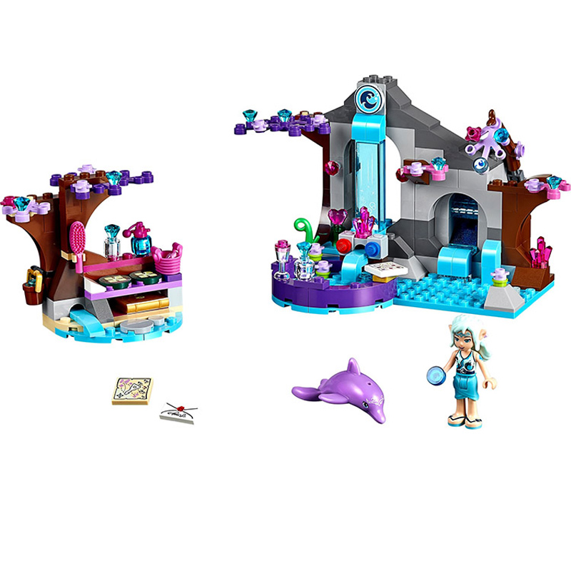 BELA Elves 10410 Fairy Naidas Secret Spa Building Blocks Kompatibla Legoingly Vänner 41072 Set Leksaker för Kids Girl Bästa Present