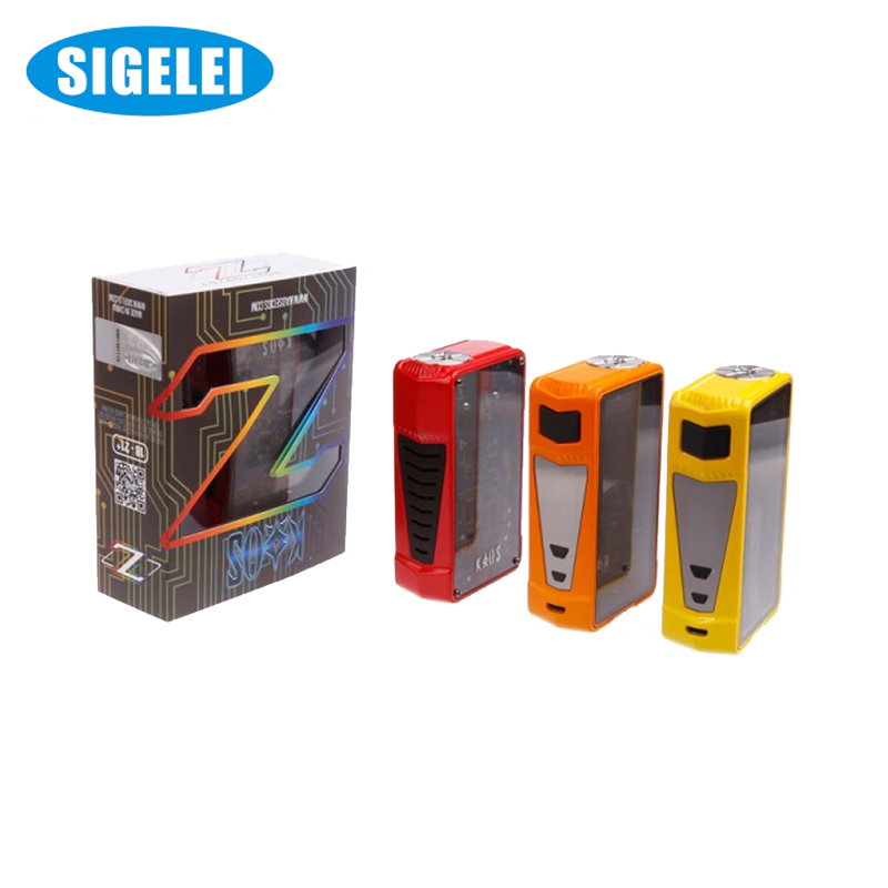 Original Sigelei Kao Z TC Vape boîte Mod elektronik sigara 200 W 510 fil Vape Mod sans batterie 18650 VS Smok Alien boîte Mod