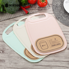 WORTHBUY Plastic Chopping Block Food Fruits Vegetable Cutting Board Non-slip Anti-Overflow Kitchen Board Kitchen Accessories