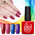 Saviland 8ml Semi Permanent Glitter Neon Nail Gel Polish Shimmer Soak Off UV Nail Gel Lacquer Long-lasting Gel Varnish