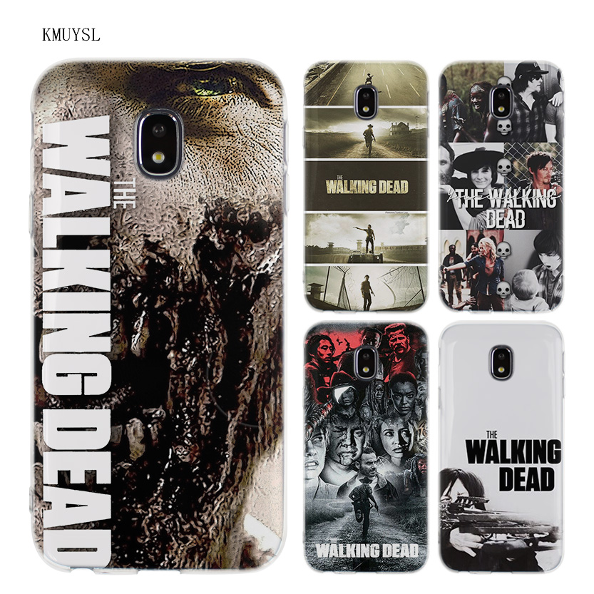 KMUYSL The Walking Dead TPU Transparent Soft Case Cover for Samsung Galaxy J5 J7 J3 2016 2017 ...