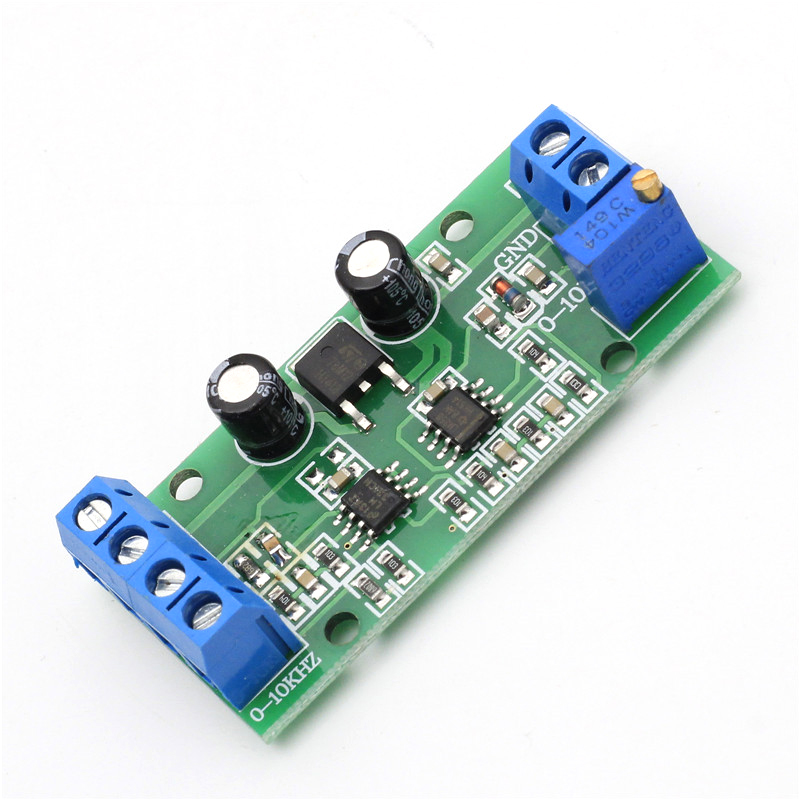 Frequency Voltage Converter 0-10KHz to 0-10V Digital to Analog Voltage Signal F/V Converter Module with Power LED