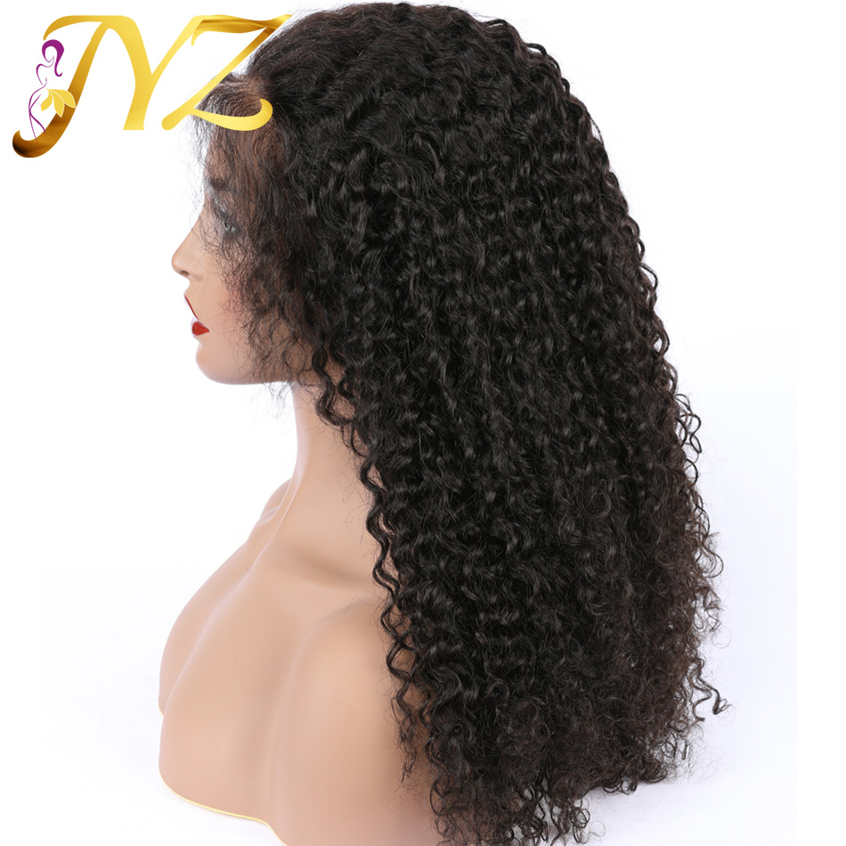 Glueless Full Lace Human Hair Wigs Pre Plucked Brazilian Human Hair Full Lace Wig With Baby Hair Kinky Curly Remy Wigs