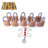 Free Shipping 10PC 25mm Padlocks Open By Common Key