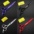 6.0 дюймов / 5.5 дюймов JP440C ножницы, Человеческих волос ножницы для парикмахерской, Парикмахерские инструменты 4 цветов дополнительно 1 шт.