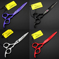 6.0 pulgadas / 5.5 pulgadas JP440C tijeras de corte, pelo humano tijeras para Salon peluquería, barberos herramientas 4 colores opcionales 1 unids