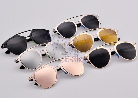 Souvent Mode femmes classique lunettes de soleil rondes miroir femme  LP76