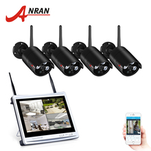ANRAN Wireless CCTV System 4CH 1080P 12 Inch NVR Security Camera System IR Outdoor Waterproof Wifi IP Camera Surveillance Kit