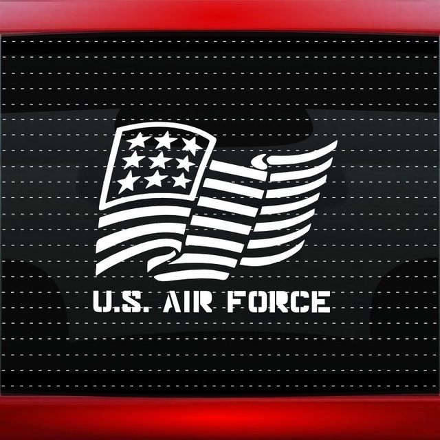 Us air force 2 pc jeep wrangler hood decal set vinyl car window.