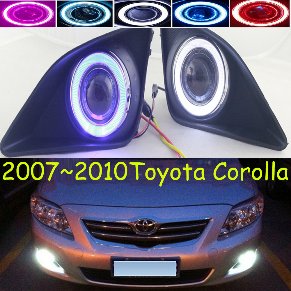 Car turn light,corolla fog lamp,projector lens light,2007 2008 2009 2010year,chrome,Free ship!2pcs,corolla head light dwcx 81210 06050 81210 0d040 2pcs front fog light lamp 2pcs grille cover bezel for toyota corolla 2007 2008 2009 2010