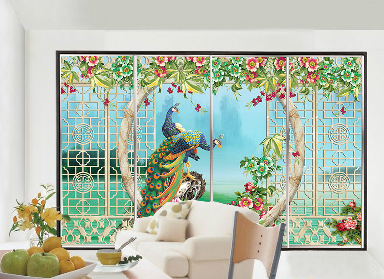 Static Cling Self Adhesive Decorative Window Stickers 3d