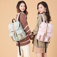 atinfor Brand Waterproof Nylon Women Small Drawstring Backpack Travel Bag Laptop Back Pack for Girls
