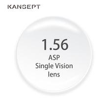 KANSEPT 1,56 индекс рецепт на очки для зрения близорукость брендовые линзы прозрачные очки жесткий устойчивый к царапинам Асферические оптические линзы